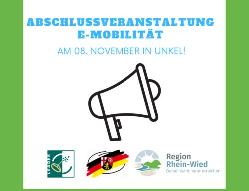 Abschlussveranstaltung E-Mobilität am 09. November!